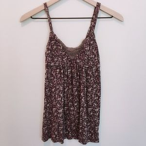 AEO Floral Babydoll Tank Top